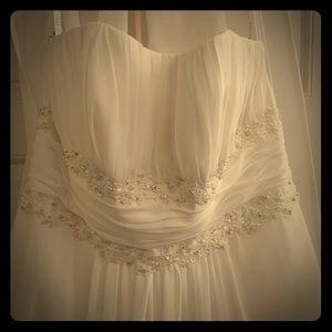 16W Strapless Wedding Dress with the Veil